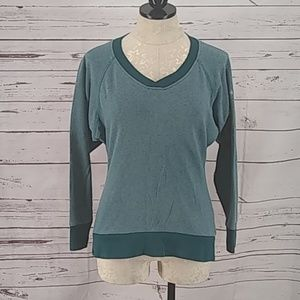 Columbia V Neck XS green long Sleeve Shirt